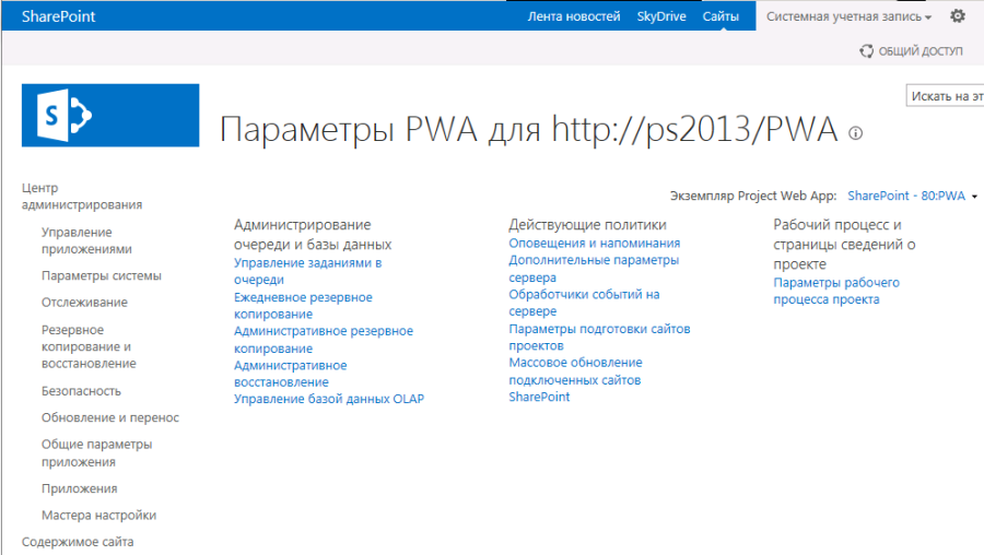 pic 1 it admin project server 2013