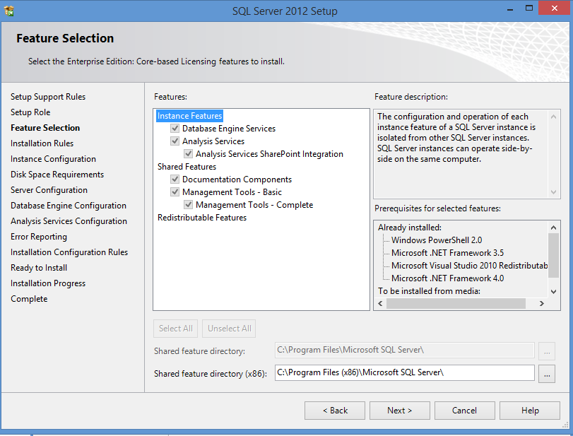 pic2 sql feature selection