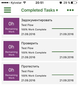 16 completed tasks